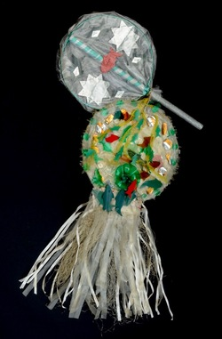 Carnival costume accessory: discarded/recycled objects