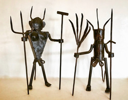 Male Exu sculptures, 1990's