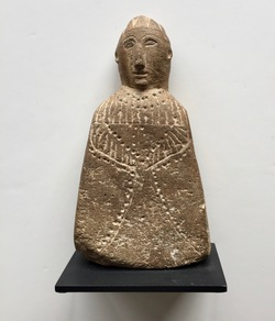 Stone Sculpture of Virgin or Pre-Hispanic deity, 18th century Mexico