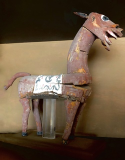 Wooden Horse, China, Western Han dynasty (202 BCE - 9 CE)