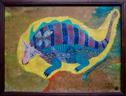 Untitled: Bicho/Animal, acrylic on wood, 1968