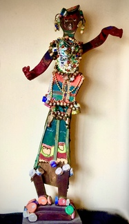 Double-sided Carnival Figure, Assemblage, ca 2000